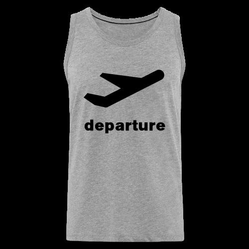departure Abflug Symbol Shirt - Männer Premium Tank Top