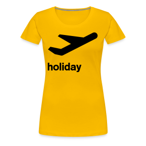 departure Abflug Symbol Holiday Shirt - Frauen Premium T-Shirt