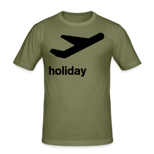 departure Abflug Symbol Holiday Shirt - Männer Slim Fit T-Shirt