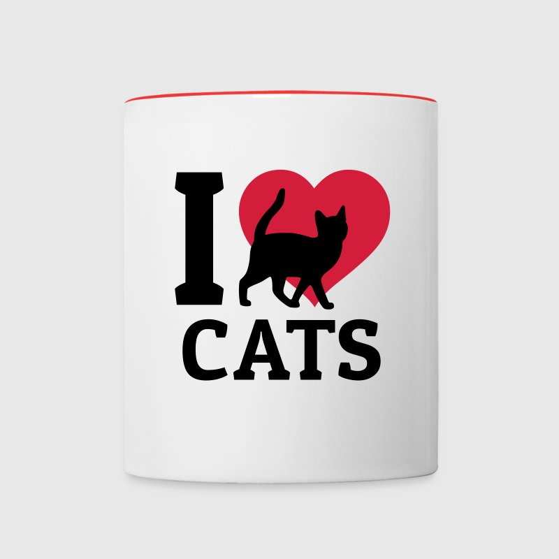 I love cats Mugs & Drinkware - Contrasting Mug
