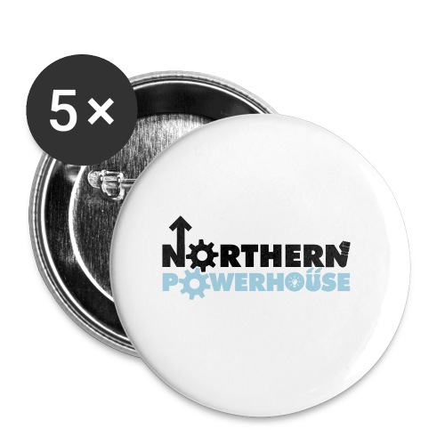 Northern Powerhouse - Mens Hoodie - Buttons small 25 mm