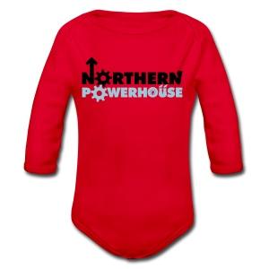 Northern Powerhouse - Mens Hoodie - Organic Longsleeve Baby Bodysuit