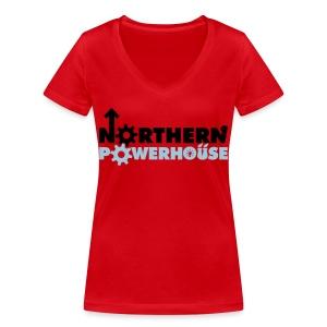 Northern Powerhouse - Mens Hoodie - Women's Organic V-Neck T-Shirt by Stanley & Stella