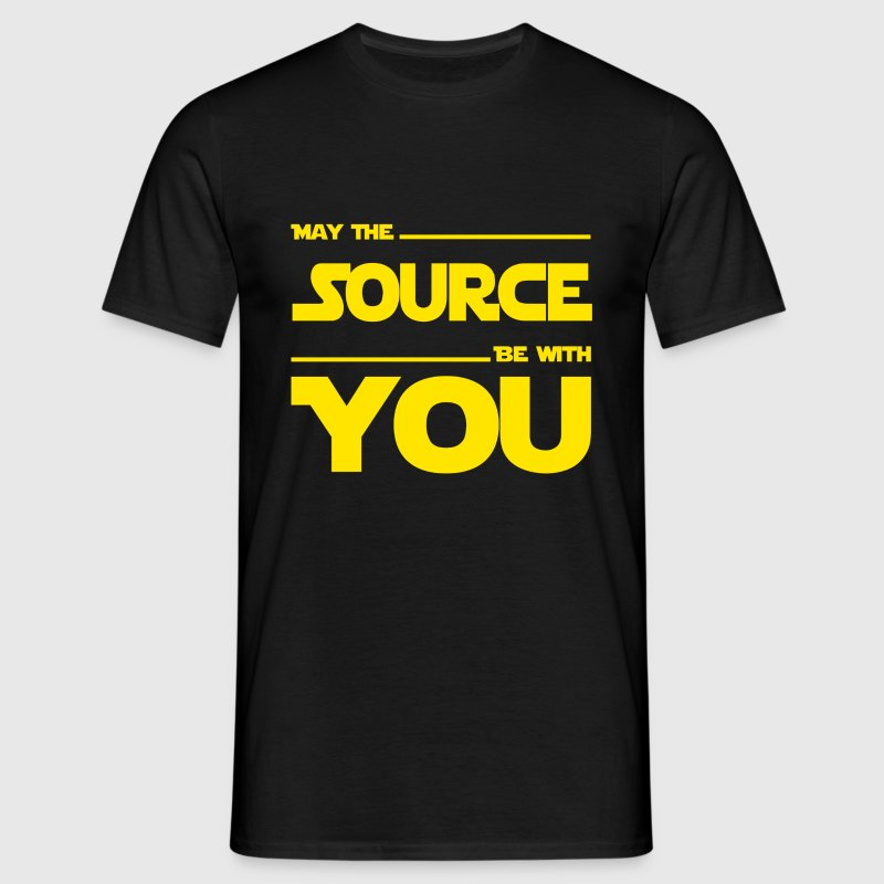 May The Source Be With You - Dark Programmer Shirt - Männer T-Shirt