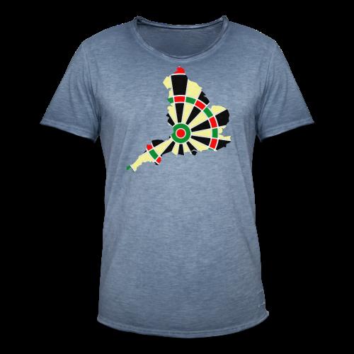 England Dartscheibe Shirt - Männer Vintage T-Shirt