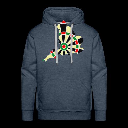 England Dartscheibe Shirt - Männer Premium Hoodie