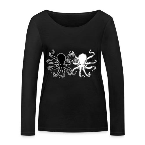 Pulpos.Camiseta contraste hombre - Camiseta de manga larga ecológica mujer de Stanley & Stella