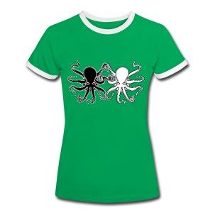 Pulpos.Camiseta contraste hombre - Camiseta contraste mujer
