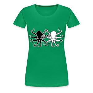 Pulpos.Camiseta contraste hombre - Camiseta premium mujer