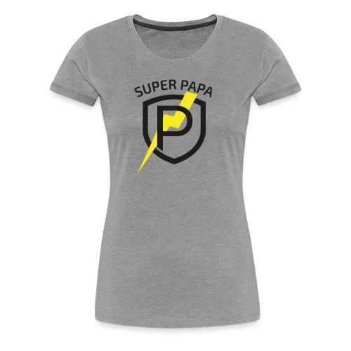 Super Papa T-Shirt - Frauen Premium T-Shirt
