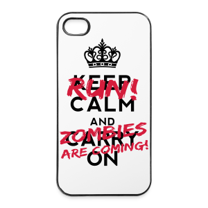 Run! Zombies are coming! - iPhone 4/4s Hard Case