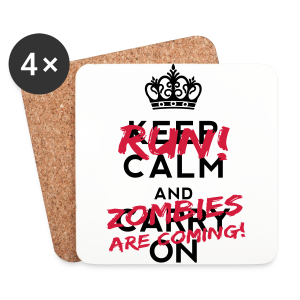 Run! Zombies are coming! - Coasters (set of 4)