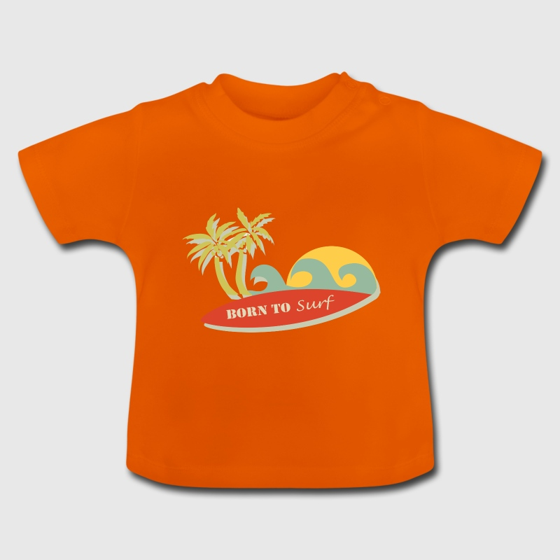 Born to surf retro style - Baby T-Shirt