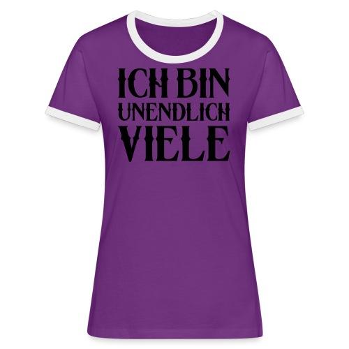 ICH BIN UNENDLICH VIELE - Frauen Kontrast-T-Shirt