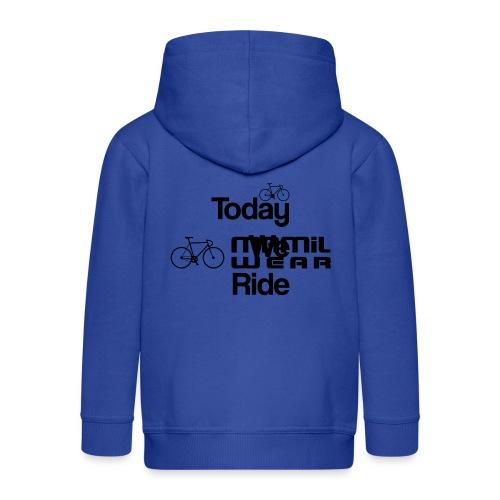 Today We Ride Mug - Kids' Premium Zip Hoodie
