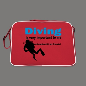Diving is very important - Retro Tasche