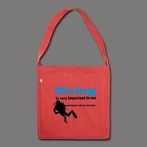 Diving is very important - Schultertasche aus Recycling-Material