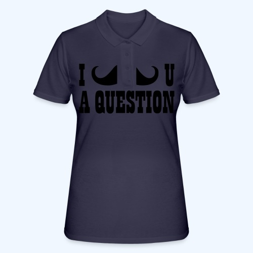 I Moustache You A Question Mens T-Shirt - Women's Polo Shirt