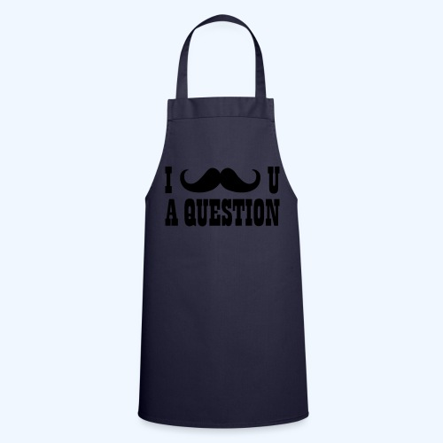 I Moustache You A Question Mens T-Shirt - Cooking Apron