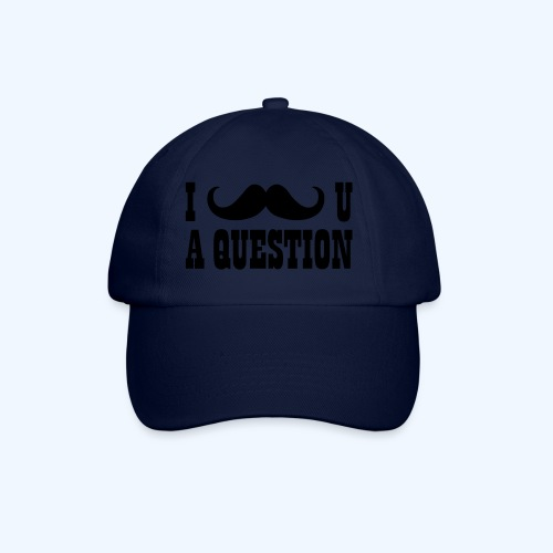 I Moustache You A Question Mens T-Shirt - Baseball Cap