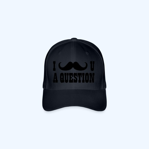 I Moustache You A Question Mens T-Shirt - Flexfit Baseball Cap
