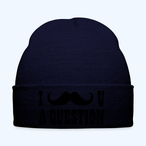 I Moustache You A Question Mens T-Shirt - Winter Hat