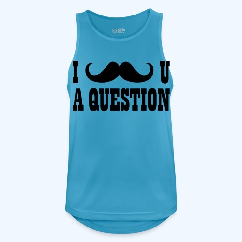 I Moustache You A Question Mens T-Shirt - Men's Breathable Tank Top