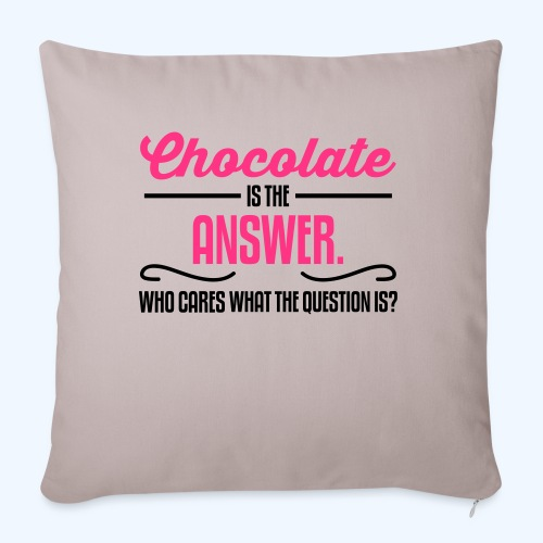 Chocolate Ladies T-Shirt - Sofa pillowcase 17,3'' x 17,3'' (45 x 45 cm)