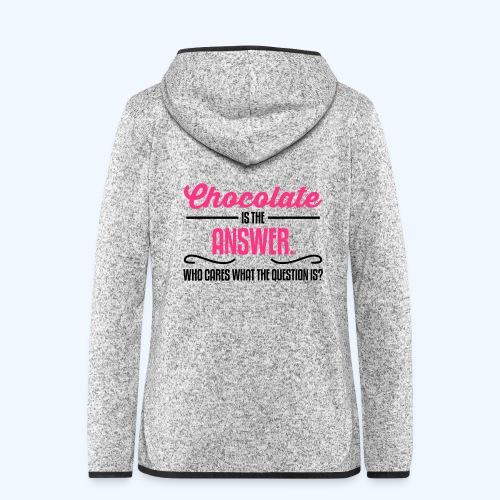 Chocolate Ladies T-Shirt - Women's Hooded Fleece Jacket