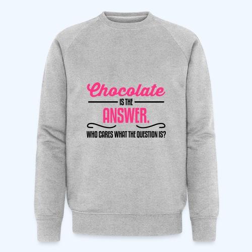 Chocolate Ladies T-Shirt - Men's Organic Sweatshirt by Stanley & Stella