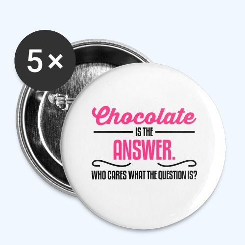 Chocolate Ladies T-Shirt - Buttons large 56 mm