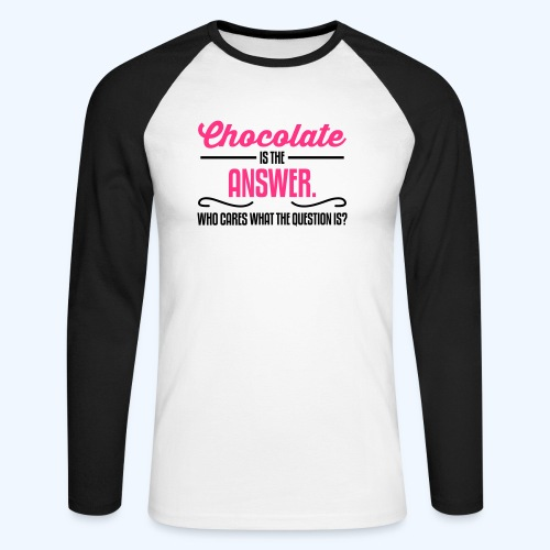 Chocolate Ladies T-Shirt - Men's Long Sleeve Baseball T-Shirt