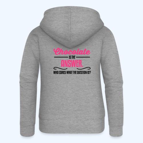 Chocolate Ladies T-Shirt - Women's Premium Hooded Jacket
