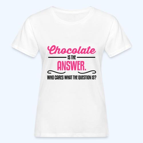 Chocolate Ladies T-Shirt - Women's Organic T-Shirt