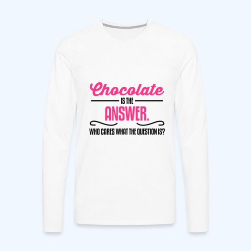 Chocolate Ladies T-Shirt - Men's Premium Longsleeve Shirt