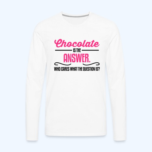 Chocolate Ladies T-Shirt - Men's Premium Longsleeve Shirt