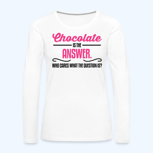Chocolate Ladies T-Shirt - Women's Premium Longsleeve Shirt
