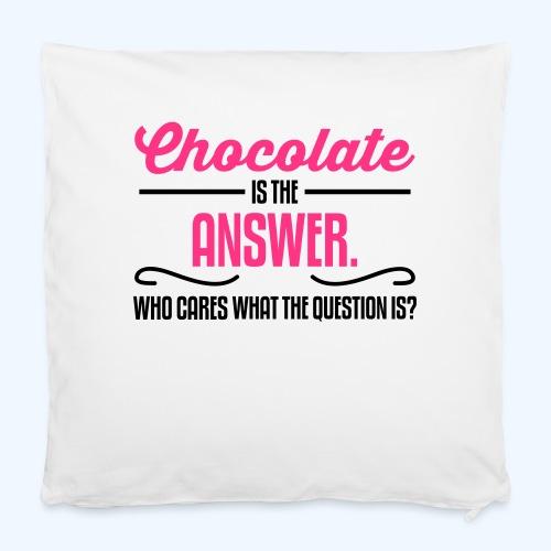 "Chocolate Ladies T-Shirt - Pillowcase 16"" x 16"" (40 x 40 cm)"