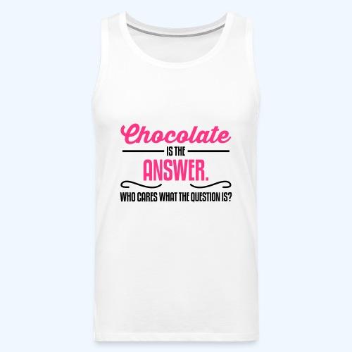 Chocolate Ladies T-Shirt - Men's Premium Tank Top