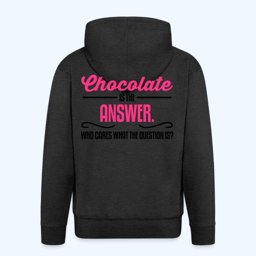 Chocolate Ladies T-Shirt - Men's Premium Hooded Jacket