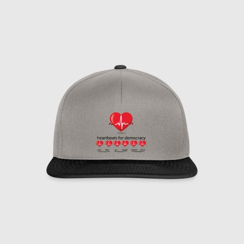 Mens tshirt with heartbeat for democracy - Snapback Cap