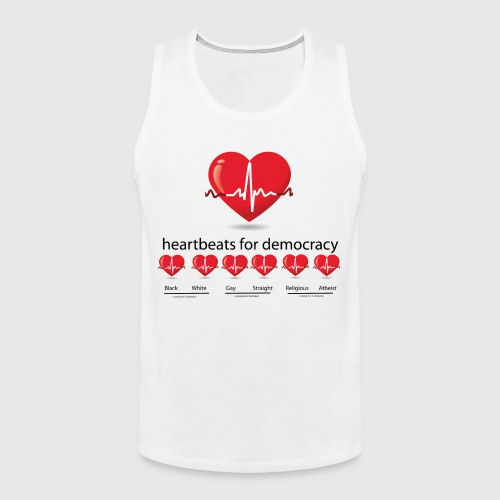Mens tshirt with heartbeat for democracy - Herre Premium tanktop
