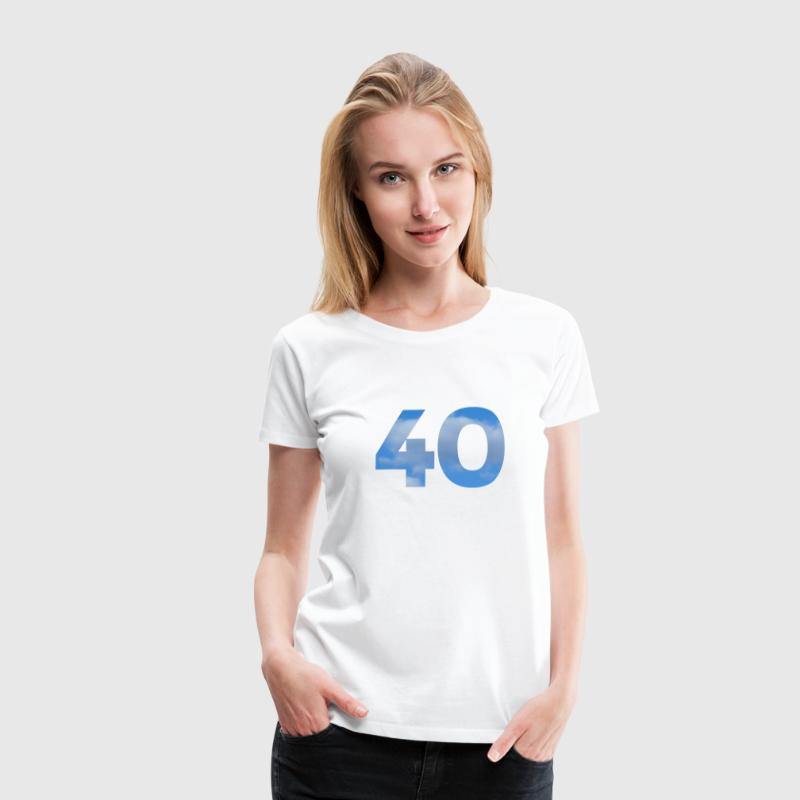 Number 40 Birthday Design with Heaven and Clouds T-Shirts - Women's Premium T-Shirt