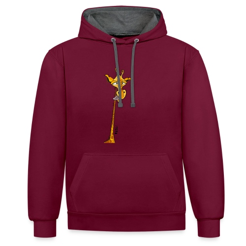 Girafe au long cou - Sweat-shirt contraste