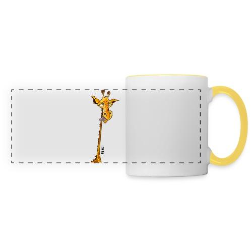 Girafe au long cou - Mug panoramique contrasté et blanc