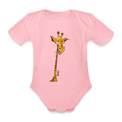 Girafe au long cou - Body Bébé bio manches courtes