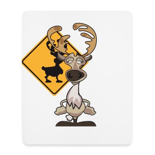 Warning Caribou - Tapis de souris (format portrait)