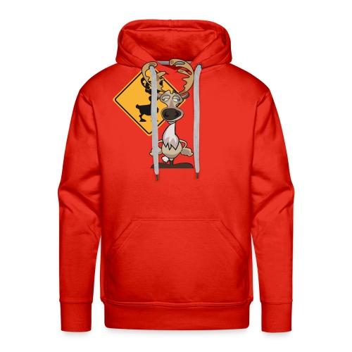 Warning Caribou - Sweat-shirt à capuche Premium pour hommes