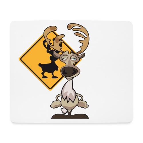Warning Caribou - Tapis de souris (format paysage)