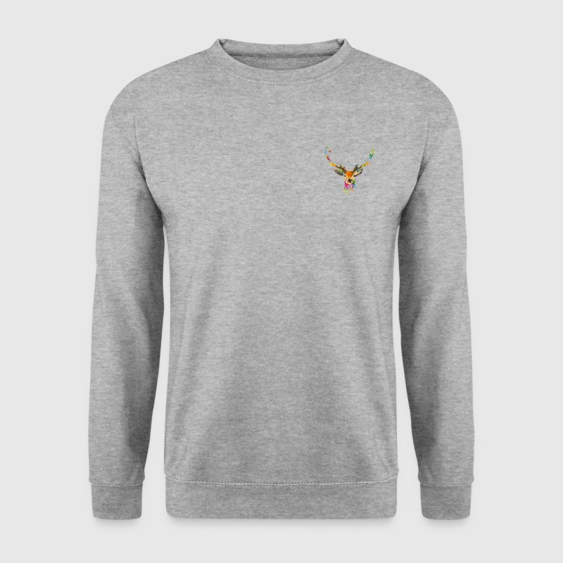 Cerf Aquarelle Sweat-shirts - Sweat-shirt Homme